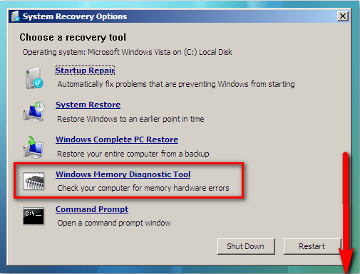 How to use Windows Memory Test